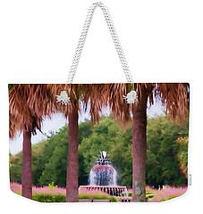 Charleston Pineapple Fountain Weekender Tote Bag