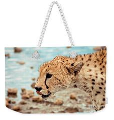 Cheetah Headshot Weekender Tote Bag by Darcy Michaelchuk