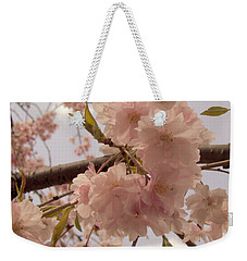 Weekender Tote Bag featuring the photograph Cherry Blossom 2 by Andrea Anderegg