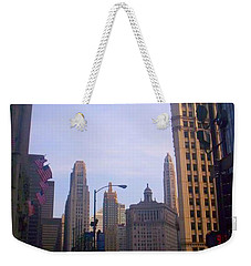 Chicago Scene Weekender Tote Bag