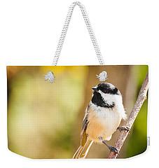 Chickadee Weekender Tote Bag by Cheryl Baxter