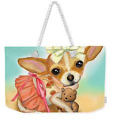 Chihuahua Princess Weekender Tote Bag by Catia Cho