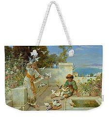 Children By The Mediterranean  Weekender Tote Bag by William Stephen Coleman