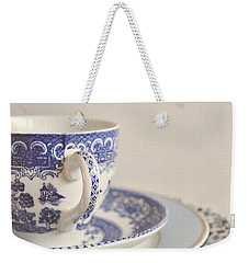 China Cup And Plates Weekender Tote Bag by Lyn Randle