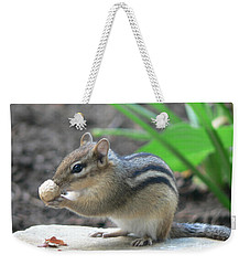 Weekender Tote Bag featuring the photograph Chipmunk by Laurel Best