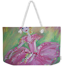 Christmas Ballerina Weekender Tote Bag by Judith Desrosiers