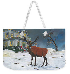 Christmas Elk Weekender Tote Bag