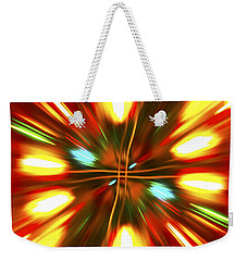 Weekender Tote Bag featuring the photograph Christmas Light Abstract by Steve Purnell
