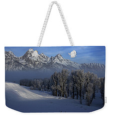 Christmas Morning Grand Teton National Park Weekender Tote Bag