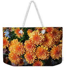 Chrysanthemums Weekender Tote Bag by Kay Novy