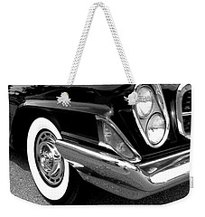 Chrysler 300 Headlight In Black And White Weekender Tote Bag