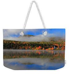 Church Across The Lake-panoramic Weekender Tote Bag