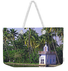 Church Located On A Coastal Lagoon In Kerala In India Weekender Tote Bag