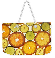 Citrus Slices Weekender Tote Bag by Photo Researchers