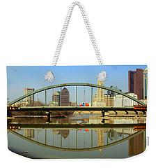 City Reflections Through A Bridge Weekender Tote Bag
