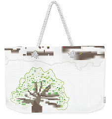 Weekender Tote Bag featuring the digital art City Tree by Kevin McLaughlin