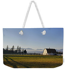 Weekender Tote Bag featuring the photograph Classic Barn In The Country by Mick Anderson