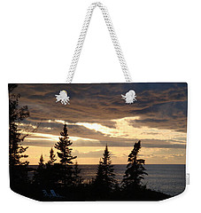 Weekender Tote Bag featuring the photograph Clearing Sky by Bonfire Photography