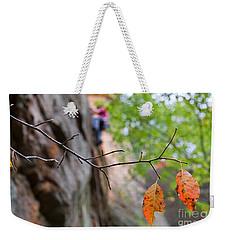 Climber In Fall Weekender Tote Bag