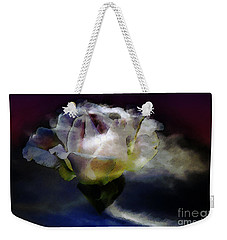 Weekender Tote Bag featuring the photograph Cloud Rose Painterly by Clayton Bruster