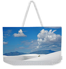 Clouds Over The White Sands Weekender Tote Bag