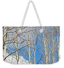 Cloudy Aspen Sky Weekender Tote Bag