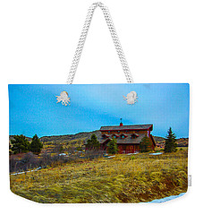 Weekender Tote Bag featuring the photograph Co. Farm by Shannon Harrington