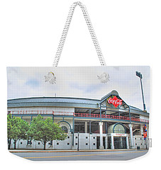 Weekender Tote Bag featuring the photograph Coca Cola Field  by Michael Frank Jr