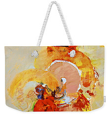 Weekender Tote Bag featuring the painting Cocks Comb And Brush by Cliff Spohn