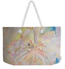 Coffee Fairy Weekender Tote Bag by Judith Desrosiers