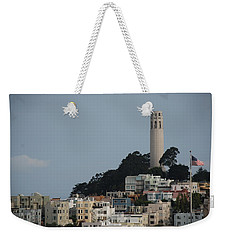 Weekender Tote Bag featuring the photograph Coit Tower by Eric Tressler
