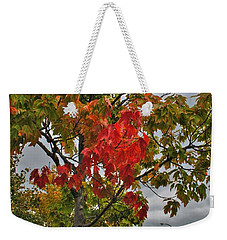Weekender Tote Bag featuring the photograph Cold Autumn Breeze  by Michael Frank Jr
