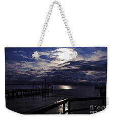 Weekender Tote Bag featuring the photograph Cold Night On The Water by Clayton Bruster