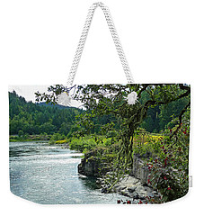 Colliding Rivers Weekender Tote Bag