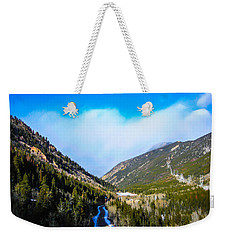 Weekender Tote Bag featuring the photograph Colorado Road by Shannon Harrington