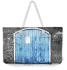 Colorful Blue Garage Door French Quarter New Orleans Color Splash Black And White And Diffuse Glow Weekender Tote Bag