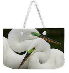 Colorful Couple Weekender Tote Bag by Myrna Bradshaw