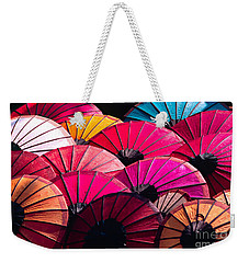Weekender Tote Bag featuring the photograph Colorful Umbrella by Luciano Mortula