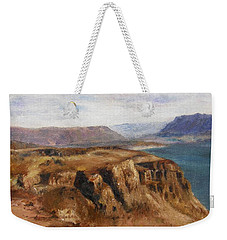 Weekender Tote Bag featuring the painting Columbia River Gorge I by Lori Brackett