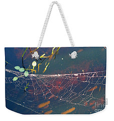 Weekender Tote Bag featuring the photograph Complexity Of The Web by Nina Prommer