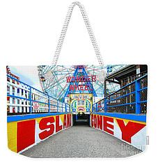 Coney Island Sign Weekender Tote Bag