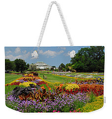 Weekender Tote Bag featuring the photograph Conservatory Gardens by Lynn Bauer