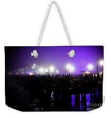 Cool Night At Santa Monica Pier Weekender Tote Bag