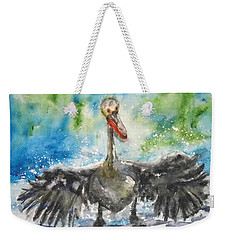 Weekender Tote Bag featuring the painting Cooling Off by Anna Ruzsan