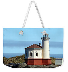 Coquille River Lighthouse Weekender Tote Bag by Nick Kloepping