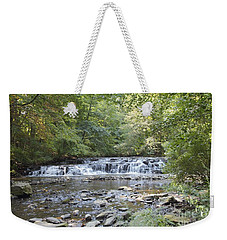 Weekender Tote Bag featuring the photograph Corbetts Glen Waterfall by William Norton