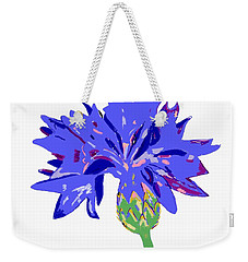 Weekender Tote Bag featuring the digital art Cornflower by Barbara Moignard