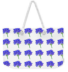 Weekender Tote Bag featuring the digital art Cornflowers by Barbara Moignard