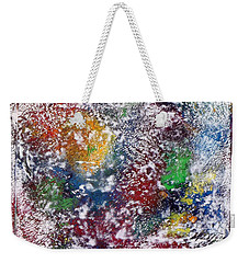 Weekender Tote Bag featuring the painting Cosmos by Alys Caviness-Gober