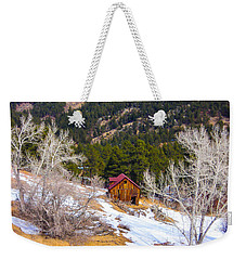 Weekender Tote Bag featuring the photograph Country Barn by Shannon Harrington
